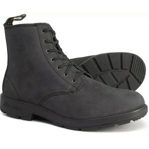 Blundstone Lace-Up Tumble Leather Boots 8.5 US Blk
